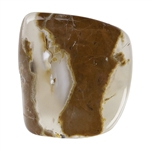 Thunder Egg Agate Gemstone - Cabochon Freeform 22mm x 23.5mm Pkg - 1