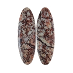 Sonora Dendritic Rhyolite Jasper Gemstone - Oval Cabochon Pair 9x28mm - Pak of 1