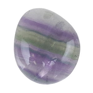 Natural Rainbow Fluorite Gemstone - Cabochon Freeform 17mm x 19mm