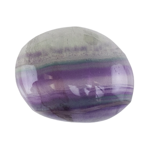Natural Rainbow Fluorite Gemstone - Cabochon Freeform 17mm x 21mm
