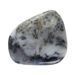 Natural Dendritic Opal Gemstone - Cabochon Freeform 24mm x 27mm Pkg - 1