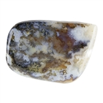 Natural Green Moss Agate Gemstone - Freeform Cabochon 39.5mm x 56mm Pkg - 1