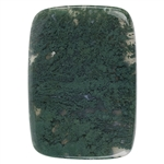 Natural Green Moss Agate Gemstone - Cabochon Rectangle 41mm x 57mm Pkg - 1