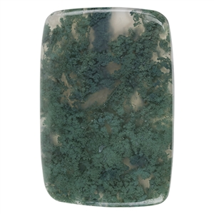 Natural Green Moss Agate Gemstone - Cabochon Rectangle 41mm x 60mm Pkg - 1