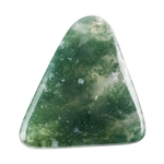 Natural Green Moss Agate Gemstone - Freeform Cabochon 31mm x 33mm Pkg - 1
