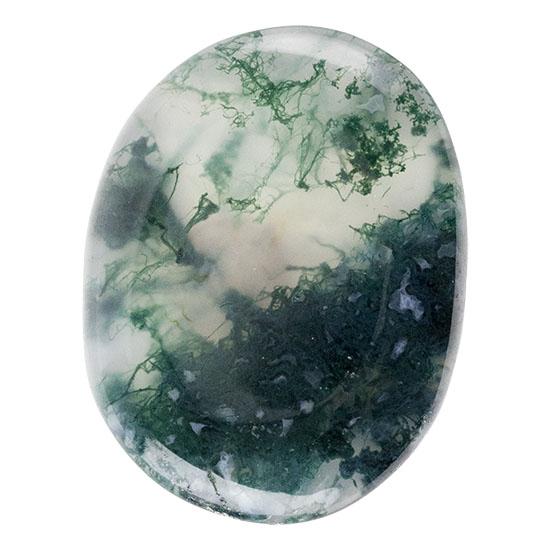 39x22,5x5,5mm Scenic Moss Agate Cabochon
