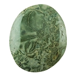 Green Brecciated Jasper Gemstone - Cabochon Freeform 39mm x 46mm Pkg - 1