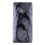 Natural Spiderweb Jasper Gemstone - Rectangle Pendant 23mm x 48mm