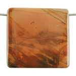 Natural Carrasite Jasper Gemstone - Pendant Rectangle 35mm x 34mm Pkg - 1