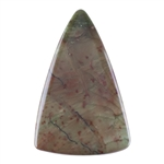 Natural Carrasite Jasper Gemstone - Triangle Pendant 32mm x 50mm