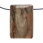 Carrasite Jasper Gemstone - Rectangle Pendant 23mm x 34mm