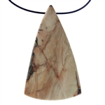 Carrasite Jasper Gemstone - Triangle Pendant 27mm x 46mm