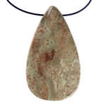 Carrasite Jasper Gemstone - Pear Pendant 27mm x 48mm
