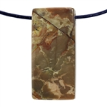 Carrasite Jasper Gemstone - Rectangle Pendant 18mm x 37mm