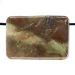 Carrasite Jasper Gemstone - Rectangle Pendant 21mm x 30mm