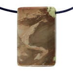Carrasite Jasper Gemstone -Rectangle Pendant 21mm x 32mm