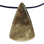 Carrasite Jasper Gemstone -Triangle Pendant 25mm x 38mm
