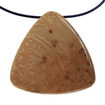 Carrasite Jasper Gemstone -Triangle Pendant 38mm x 39mm