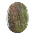 Natural Carrasite Jasper Gemstone - Oval Pendant 37mm x 52mm