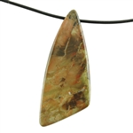 Natural Carrasite Jasper Gemstone - Pendant Triangle 24mm x 60mm Pkg - 1