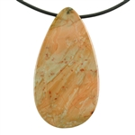 Natural Carrasite Jasper Gemstone - Pendant Pear 27mm x 51mm Pkg - 1