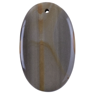 Cripple Creek Picture Jasper Gemstone - Freeform Pendant 33mm x 54mm