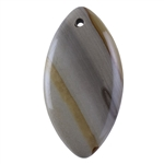 Cripple Creek Picture Jasper Gemstone - Marquise Pendant 27mm x 50mm
