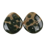 Ocean Jasper Gemstone - Cabochon Freeform 13mm x 16mm - Matched Pair