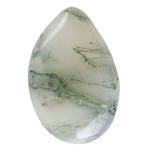 Tree Agate Gemstone - Freeform Cabochon 23mm x 35mm Pkg - 1