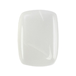 White Moonstone Gemstone - Cabochon Rectangle Cushion 10mm x 14mm - Pkg/1