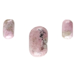 Rhodonite Gemstone - Freeform Cabochon - Set of 3