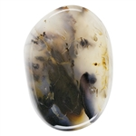 Texas Marfa Agate Gemstone - Freeform Cabochon 26mm x 36.5mm Pkg - 1