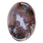 Natural Mexican Agate Gemstone - Freeform Cabochon 29.5mm x 39.5mm Pkg - 1