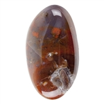 Natural Mexican Agate Gemstone - Freeform Cabochon 19.5mm x 34mm Pkg - 1