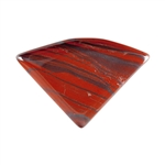 Natural Red Iron Jasper Gemstone - Freeform Cabochon 34mm x 49.5mm Pkg - 1