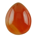Natural Carnelian Gemstone - Cabochon Pear 10x12mm - Pak of 4