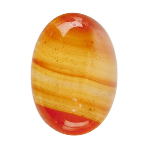 Natural Carnelian Gemstone - Cabochon Oval 10mm x 14mm - Pak of 2