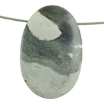 Picasso Marble Gemstone - Oval Pendant 27mm x 44mm Pkg - 1