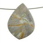 Picasso Marble Gemstone - Funky Drop Pendant 31mm x 43mm Pkg - 1