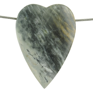Picasso Marble Gemstone - Heart Pendant 29mm x 43mm Pkg - 1