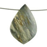 Picasso Marble Gemstone - Funky Drop Pendant 27mm x 43mm Pkg - 1