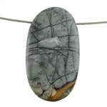 Picasso Marble Gemstone - Oval Pendant 26mm x 50mm Pkg - 1