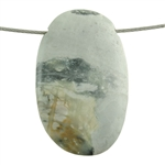 Picasso Marble Gemstone - Oval Pendant 26mm x 44mm Pkg - 1
