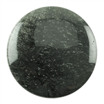 Black Rutilated Quartz Gemstone - Round Cabochon 35mm Pkg - 1