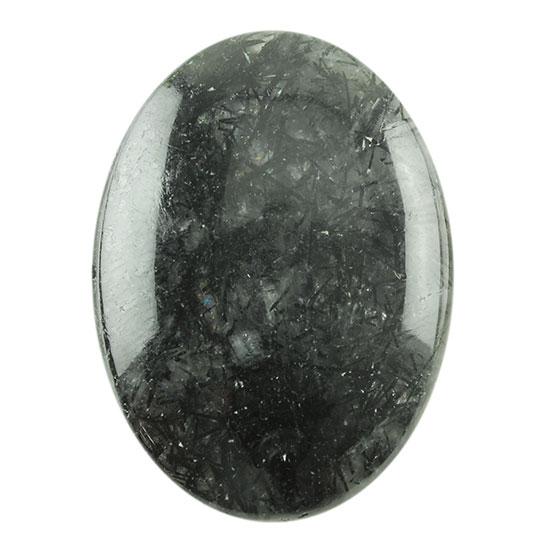 Rutilated Quartz Gemstone Big Oval Shape 35*26*12mm 94Cts Black Rutile Quartz Cabochon 100/% Natural Black Tourmalinated Rutile Quartz
