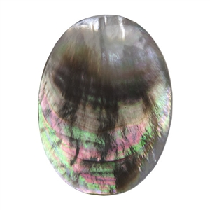 Natural Black Lip Shell Gemstone - Cabochon Oval