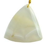 Natural Moon Agate Gemstone - Triangle Pendant 50mm x 52mm Pkg - 1