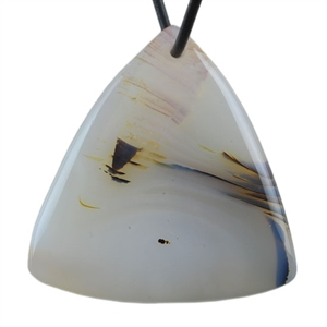Botswana Agate Gemstone - Triangle Pendant 37mm x 38mm - Pak of 1