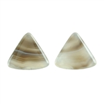 Natural Botswana Agate Gemstone - Cabochon Triangle 20mm Matched Pair