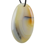 Botswana Agate Gemstone - Oval Pendant 28mm x 50mm - Pak of 1